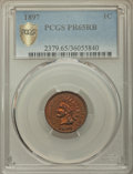 Proof Indian Cents: , 1897 1C PR65 Red and Brown PCGS Secure. PCGS Population: (61/25 and 1/0+). NGC Census: (52/18 and 0/0+). CDN: $500 Whsle. B...
