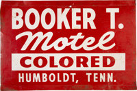 Booker T. Motel Sign