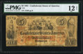 Confederate Notes:1861 Issues, T31 $5 1861 PF-1 Cr. 243 PMG Fine 12 Net.. ...