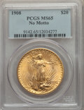 Saint-Gaudens Double Eagles: , 1908 $20 No Motto MS65 PCGS. PCGS Population: (25501/9945). NGC Census: (10546/4838). MS65. Mintage 4,271,551. ...