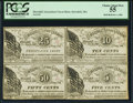 Obsoletes By State:Massachusetts, Haverhill, MA- Haverhill Association 5¢, 10¢, 25¢, 50¢ Nov. 1, 1862Uncut Sheet PCGS Choice About New 55.. ...