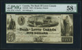 Canadian Currency, Canada Quebec, ON- Bank of Lower Canada $5 Apr. 4, 1840 Ch. # 410-10-10 PMG Choice About Unc 58 EPQ.. ...