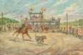 Paintings, Joe Beeler (American, 1931-2006). Sunday Afternoon in Oklahoma. Oil on canvas. 24 x 36 inches (61.0 x 91.4 cm). Signed l...