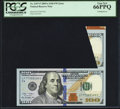 Error Notes:Foldovers, Fr. 2187-F $100 2009A Federal Reserve Note. PCGS Gem New 66PPQ.....