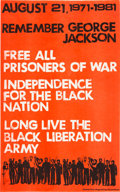 """Miscellaneous:Broadside, """"Remember George Jackson"""" Poster. ..."""