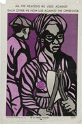 Miscellaneous:Broadside, Emory Douglas By All Means Available Poster....