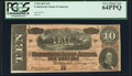 Confederate Notes:1864 Issues, T68 $10 1864 PF-44 Cr. 552 PCGS Very Choice New 64PPQ.. ...