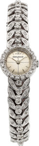 Timepieces:Wristwatch, Jaeger-LeCoultre 18k White Gold Diamond Watch. ...