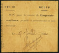 New Caledonia 50 Centimes 27.7.1920 Pick Unlisted Fine