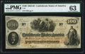 Confederate Notes:1862 Issues, T41 $100 1862 PF-22 Cr. 320A PMG Choice Uncirculated 63.. ...