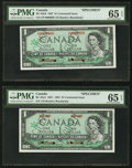 Canadian Currency, BC-45bS & BC-45aS $1 1967; 1867-1967 Commemorative Specimens PMG Gem Uncirculated 65 EPQ.. ... (Total: 2 notes)