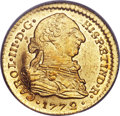 Colombia, Colombia: Charles III gold Escudo 1772 P-JS MS64 PCGS...
