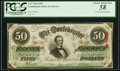 Confederate Notes:1863 Issues, T57 $50 1863 PF-12 Cr. 415 PCGS Choice About New 58.. ...