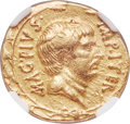 Ancients:Roman Republic, Ancients: Sextus Pompey, as Imperator (44-36 BC). AV aureus (20mm, 7.84 gm, 3h). NGC Choice VF 4/5 - 2/5....