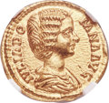 Ancients:Roman Imperial, Ancients: Julia Domna (AD 193-217). AV aureus (20mm, 7.11 gm, 12h). NGC Gem MS 5/5 - 5/5....