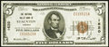 National Bank Notes:Virginia, Staunton, VA - $5 1929 Ty. 1 The National Valley Bank Ch. # 1620Very Fine-Extremely Fine.. ...