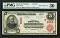 National Bank Notes:Virginia, Tazewell, VA - $5 1902 Red Seal Fr. 587 Tazewell NB Ch. # (S)6123PMG Very Fine 30.. ...
