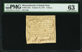 Colonial Notes:Massachusetts, Massachusetts October 16, 1778 3d PMG Choice Uncirculated 63.. ...