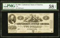 Confederate Notes:1862 Issues, T42 $2 1862 PF-1 Cr. 334 PMG Choice About Unc 58 EPQ.. ...