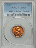 Lincoln Cents: , 1947 1C MS67 Red PCGS. PCGS Population: (26/0). NGC Census: (35/0).CDN: $1,350 Whsle. Bid for problem-free NGC/PCGS MS67. ...