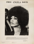 "Miscellaneous:Broadside, ""Free Angela Davis and All Political Prisoners"" Poster...."
