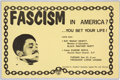"Miscellaneous:Broadside, Fascism In America?...You Bet Your Life! Featuring Ray""Masai"" Hewitt. ..."