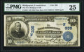 National Bank Notes:Connecticut, Bridgeport, CT - $10 1902 Plain Back Fr. 626 The First-Bridgeport NB Ch. # (N)335 PMG Very Fine 25.. ...