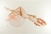 Alberto Vargas - Nude Redhead with Sunhat Pin-Up Limited Edition Print #39/200 Memorabilia (San Francisco Art Exchange...