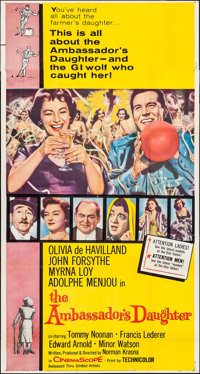 """The Ambassador's Daughter (United Artists, 1956). Folded, Fine/Very Fine. Three Sheet (41"""" X 77.5""""). Comedy..."""