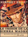 """Movie Posters:Film Noir, The Treasure of the Sierra Madre (Athos Films, R-1962). Folded,Very Fine-. French Moyenne (22.75"""" X 30.25"""") Yves Thos & Ren..."""