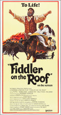 """Movie Posters:Musical, Fiddler on the Roof (United Artists, 1972). Folded, Very Fine+. International Three Sheet (41"""" X 77""""). Ted Coconis Artwork. ..."""