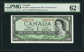 """Canadian Currency, BC-29bA $1 1954 """"Devil's Face"""" Replacement PMG Uncirculated 62EPQ.. ..."""