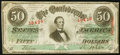 Confederate Notes:1863 Issues, T57 $50 1863 PF-16 Cr. 413 Extremely Fine.. ...