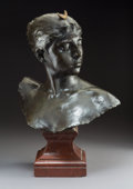 Sculpture, After Jean Alexandre Joseph Falguière (French, 1831-1900). Diana. Bronze with brown patina. 17 inches (43.2 cm) high on ...