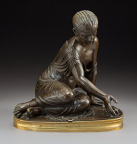 Jean-Jacques Pradier (French, 1790-1852) La Joueuse d'Osselets, circa 1840 Bronze with brown patina<
