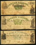 Obsoletes By State:Mississippi, Jackson, MS- State of Mississippi $1; $2.50 (2) 1862 Cr. 22; 21; 20 Very Good-Fine.. ... (Total: 3 notes)