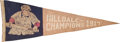 Baseball Collectibles:Others, 1917 Hilldale Club Negro League Champions Pennant....