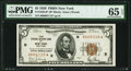 Fr. 1850-B* $5 1929 Federal Reserve Bank Note. PMG Gem Uncirculated 65 EPQ