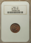 1885 1C MS65 Red and Brown NGC. NGC Census: (80/20). PCGS Population: (97/12). CDN: $650 Whsle. Bid for problem-free NGC...