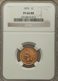 Proof Indian Cents: , 1870 1C PR64 Red and Brown NGC. NGC Census: (48/48). PCGS Population: (120/65). CDN: $550 Whsle. Bid for problem-free NGC/P...
