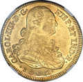 Colombia, Colombia: Charles IV gold 8 Escudos 1807 NR-JJ MS62 NGC,...