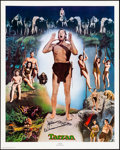 "Movie Posters:Adventure, Johnny Weissmuller as Tarzan Limited Edition Print (NostalgiaMerchant, 1977). Rolled, Very Fine+. Autographed Poster (24"" X..."