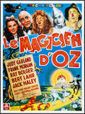 """Movie Posters:Fantasy, The Wizard of Oz (MGM, R-1990s). Folded, Very Fine. French Grande (46.5"""" X 62.25"""") & Mexican Lobby Cards (3) (12.75"""" X 17"""").... (Total: 4 Items)"""