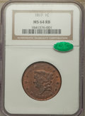 1817 1C 13 Stars, N-14, R.1, MS64 Red and Brown NGC. CAC....(PCGS# 36590)