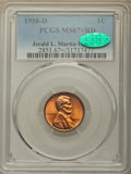 Lincoln Cents, 1958-D 1C MS67+ Red PCGS. CAC....
