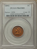 Proof Indian Cents: , 1892 1C PR65 Red PCGS. PCGS Population: (44/18). NGC Census: (14/13). PR65. Mintage 2,745. ...