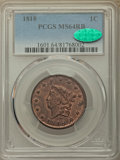 1818 1C MS64 Red and Brown PCGS. CAC. PCGS Population: (59/1). NGC Census: (47/6). CDN: $1,025 Whsle. Bid for problem-fr...