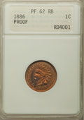 1886 1C Type One PR62 Red and Brown ANACS. NGC Census: (5/143). PCGS Population: (6/299). PR62. Mintage 4,290. ...(PCGS#...