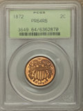 Proof Two Cent Pieces: , 1872 2C PR64 Red and Brown PCGS. PCGS Population: (150/178). NGC Census: (60/116). CDN: $850 Whsle. Bid for problem-free NG...