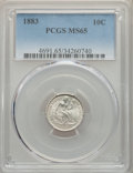 Seated Dimes: , 1883 10C MS65 PCGS. PCGS Population: (78/76). NGC Census: (75/63). MS65. Mintage 7,674,673. ...